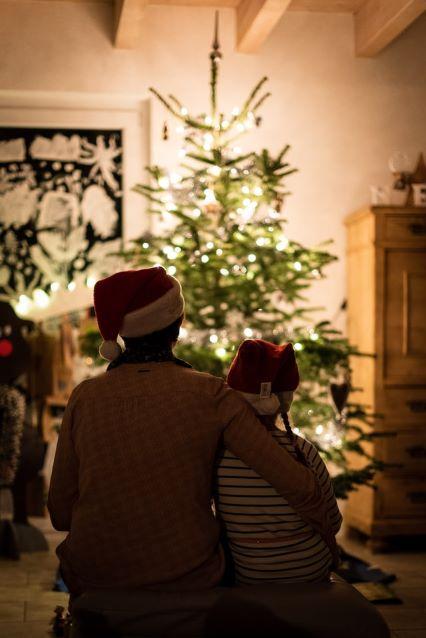 Świąteczne lampki w domu