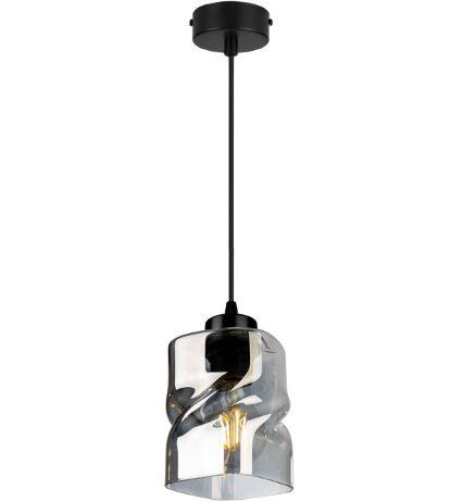 Lampa wisząca pojedyncza ze szklanym kloszem