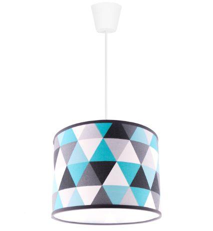 Nowoczesna lampa wisząca pojedyncza z kolorowym kloszem