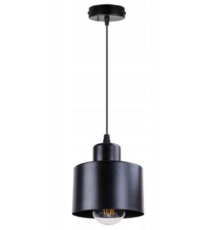 Lampa wisząca z metalowym kloszem w kolorze czarnym